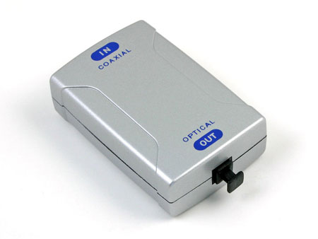 Coaxial to TOSLink Optical Digital Audio Converter
