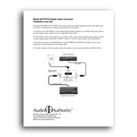 TOSLink Optical to Coaxial Digital Audio Converter, Installation and Use manual - Click to download in PDF format