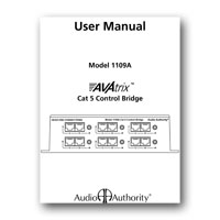 Audio Authority 1109A User Manual - click to download PDF