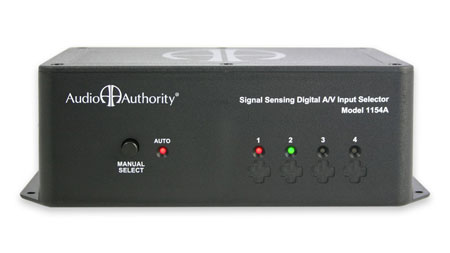 Audio Authority 4x1 Component Video and Audio AutoSelector Switch