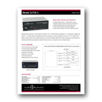 Audio Authority 1177A-1 Product Focus Sheet