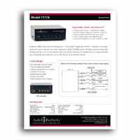Audio Authority 1177A product focus sheet