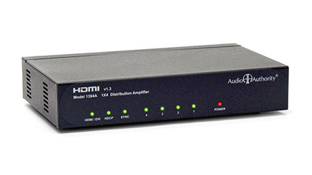 Audio Authority 1394A 1:4 HDMI ver. 1.3 Distribution Amp/Splitter