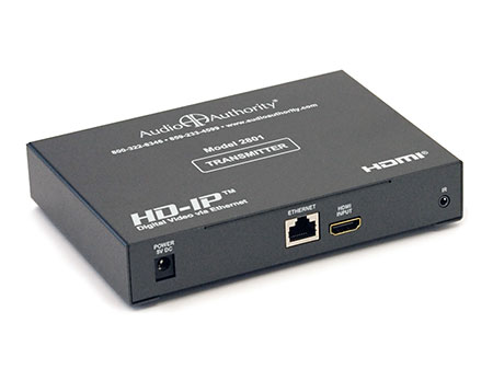 Gigabit  Cat5 on Audio Authority 2801 Hd Ip Hdmi Over Gigabit Ip Transmitter