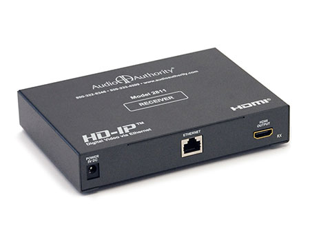Gigabit  Cat5 on Audio Authority 2811 Hdmi Over Gigabit Ip Video Distribution Receiver