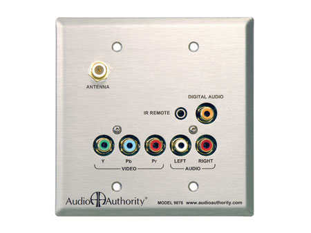 Audio Authority 9878 Stainless Steel Wallplate Receiver