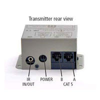 Audio Authority 9880T Enclosed Transmitter, back panel illustration