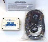 Audio Authority 9A60 High-Definition VGA to Component Video Transcoder - included items