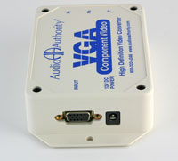 Audio Authority 9A60 High-Definition VGA to Component Video Transcoder - input side