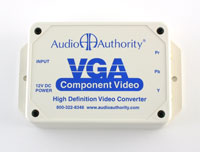 Audio Authority 9A60 High-Definition VGA to Component Video Transcoder, top view