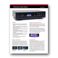 Audio Authority ADX-Series - Focus Sheet (PDF)