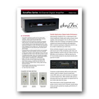 Audio Authority SF-16M / ADX Focus Sheet - click to download PDF