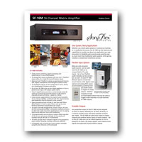 Audio Authority SonaFlex SF-16M Focus Sheet - click to download PDF