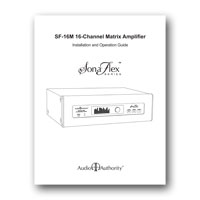 Audio Authority SonaFlex SF-16M Manual - click to download PDF
