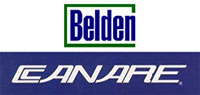 Belden and Canare Logos