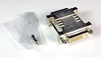 Cable Solutions ADA-DVI-FF DVI Female to Female Adapter, included