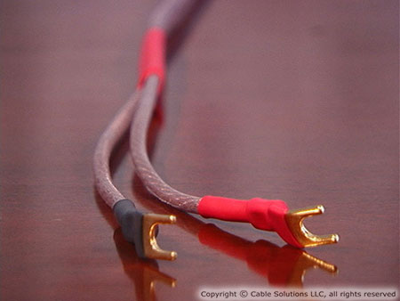 Cable Solutions O2X-Series OFHC Speaker Cable with Vampire Wire #HDS5 Spades, front-right channel