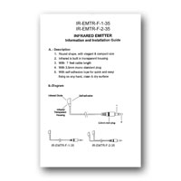 Cable Solutions IR-EMTR-F-2-35 flash emitter manual in PDF format