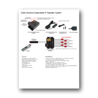Cable Solutions IR Repeater System Flyer - PDF