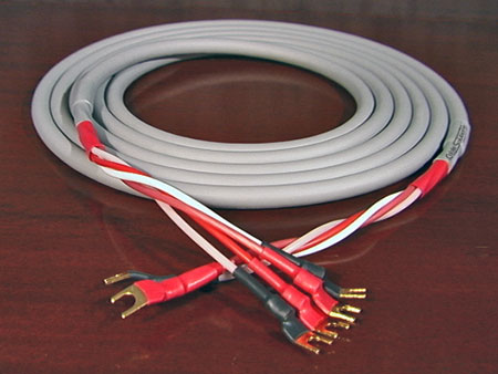 Canare 4S11 Star Quad Speaker Cable with Vampire Wire #HDS5 Spades, front-right channel