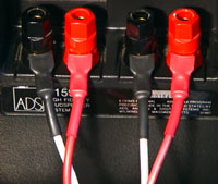 Vampire Wire #HDS5 spades connected to ADS loudspeaker