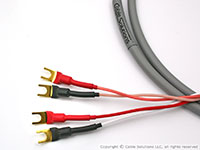 Canare 4S8 Star Quad Speaker Cable with (4) Vampire Wire #HDS5 spades