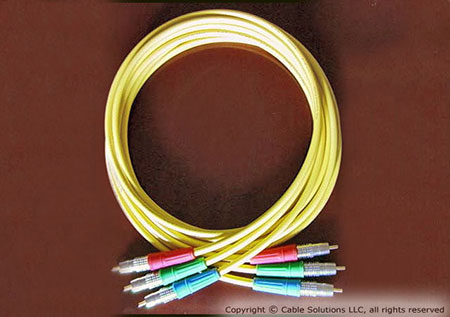 Canare L-4CFB Pro Series Precision Component Video Cable Set