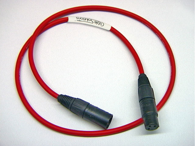 canare l 4e6s balanced audio interconnect cable canare l 4e6s balanced stereo audio interconnect cable 1 meter red