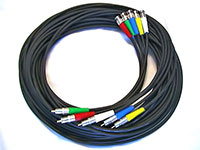 6 meter Canare LV-61S RGBHV Video Discrete Cable Set