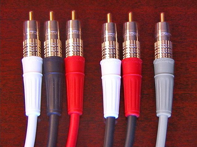 Canare 5.1 6 Channel SACD Precision Audio Interconnect Cables 0.5m