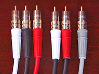 Canare 6 Channel Precision Analog Audio Cable Set for SACD and DVD Audio, color-code