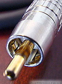 "Canare's remakable ""True 75 Ohm"" RCA Connector"