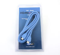 Gefen 10 foot HDMI Cable, Blue, in package