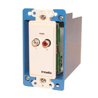 Intelix AVO-A2-WP-F Stereo Audio Wallplate Balun, Right
