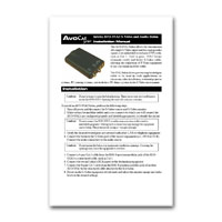 Intelix AVO-SVA2-F S-Video and Stereo Audio Balun Installation Manual in PDF format