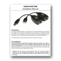Intelix AVO-USB USB Extender System, Manual - Click to download PDF