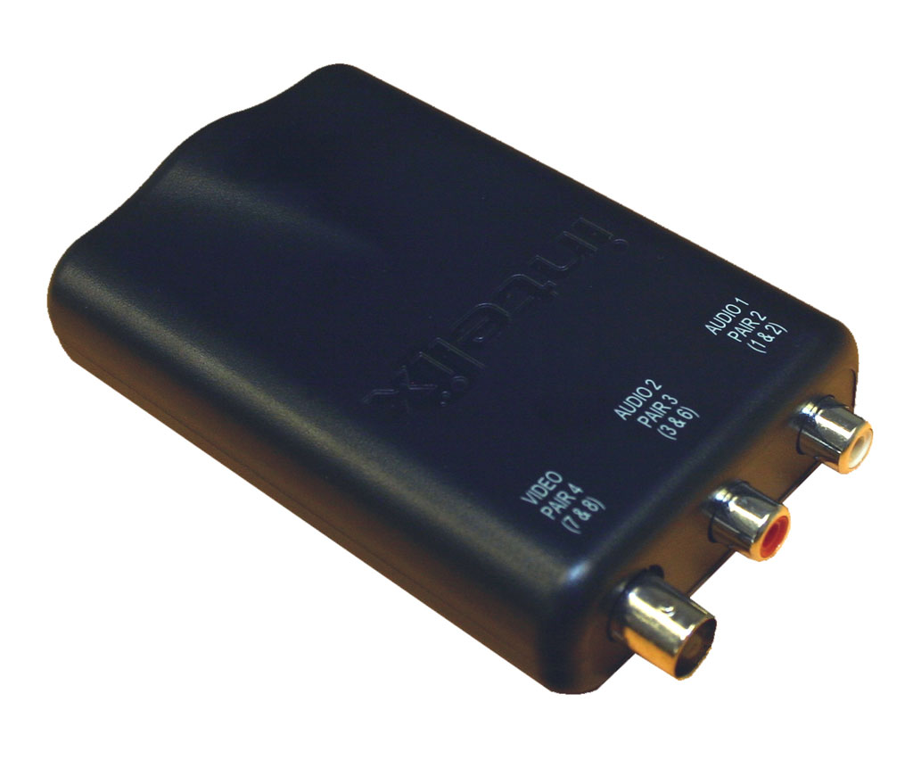 Intelix AVO-V1A2-F Composite Video and Stereo Audio Balun