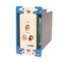Intelix AVO-V1A2-WP-F Composite Video / Stereo Audio Wallplate Balun w/ RJ45 Termination, right