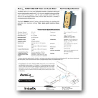 Intelix AVO-V1A2-WP-F Composite Video / Stereo Audio Wallplate Balun w/ RJ45 Termination, Tech Specs - click to download PDF