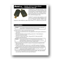 Intelix AVO-V1-PAIR-F Composite Video Balun Set, Installation Manual in PDF format