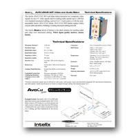 Intelix AVO-V2A2-WP-F Y/C or Dual Composite Video and Stereo Audio Wallplate Balun w/RJ45 termination tech specs - click to download PDF