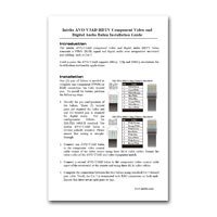 Intelix AVO-V3AD-F Component Video and Digital Audio Balun, Installation Manual in PDF format