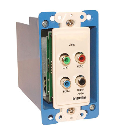 Intelix AVO-V3AD-WP-F Component Video and Digital Audio Wallplate Balun w/RJ45 Termination
