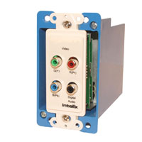 Intelix AVO-V3AD-WP-F Component Video and Digital Audio Wallplate Balun w/RJ45 Termination - Right
