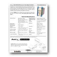 Intelix AVO-V3AD-WP-F Component Video and Digital Audio Wallplate Balun w/RJ45 Termination, Tech Specs - click to download PDF