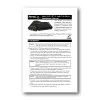 Intelix AVO-V3PT-F Component Video and IR Balun, Installation Manual in PDF format