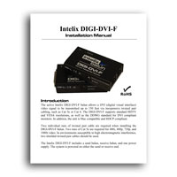 Intelix DIGI-DVI-F DVI over Twisted-Pair Balun / Extender - Manual (click to download PDF)