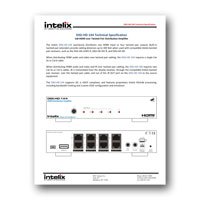 Intelix DIGI-HD-1X4 HDMI and IR via Twisted Pair Distribution System - spec sheet