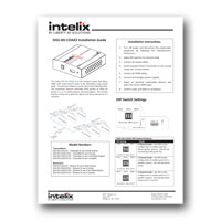 Intelix DIGI-HD-COAX2 HDMI over Coax Extender, Manual - Click to download PDF