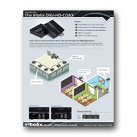 Intelix DIGI-HD-COAX HDMI over Coax Extender Brochure - click to download PDF